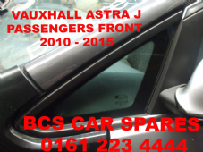 VAUXHALL ASTRA J   N/S/F  1/4  QUARTER   WINDOW / GLASS  2011 - 2012 - 2013 - 2014   PASSENGER  SIDE FRONT